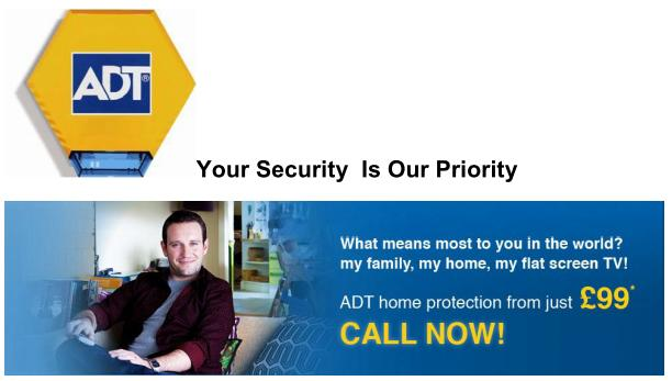 ADT Home Security Alarms systems in Streetly, Sutton Coldfield, Walsall, West Midlands
