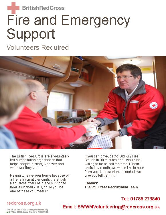 British red cross need volunteers