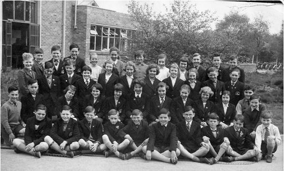 Roger Woodhouse provided his class photo at Blackwood Road School, Streetly