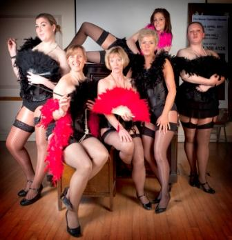 streetly Hot Box Girls prepare to set pulses racing with their saucy Guys and Dolls striptease routine