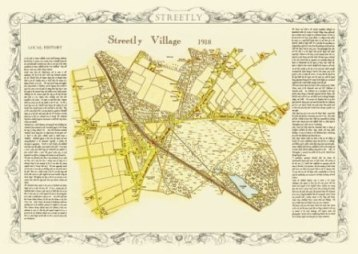 Streetly Village map 1918 in Sutton Coldfield - Walsall West Midlands uk
