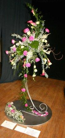Streetly Flower arrangers Club  Annual Flower Show. competitions title A Wedding has been Arranged