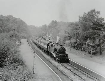 Streetly railway in 1953 - copyright Streetly website